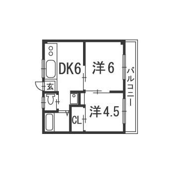 ベルグラン矢沢(2DK)